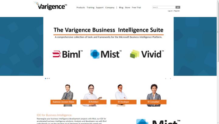 Varigence Homepage