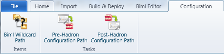 Configuration Ribbon Tab