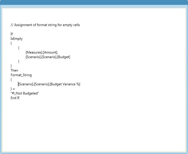Script Command MDX Expression Editor