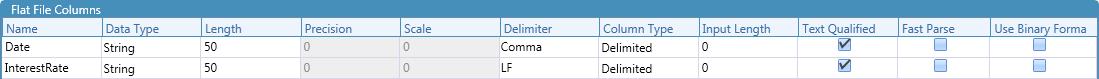 File Format Column