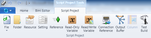 Script Project Ribbon