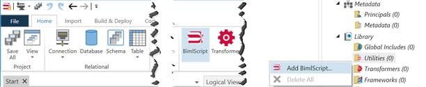 Biml Script Ribbon Button