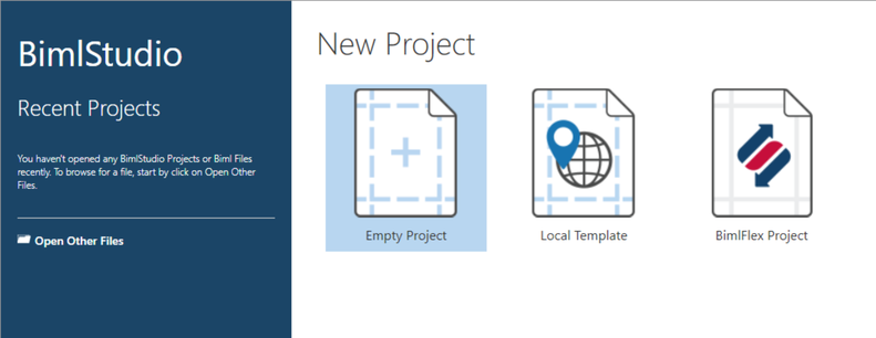 The New Project Button