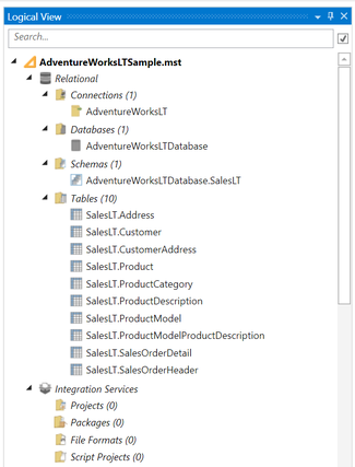 Import Tables Connection Combo Box