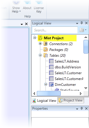 Logical View - Project Settings