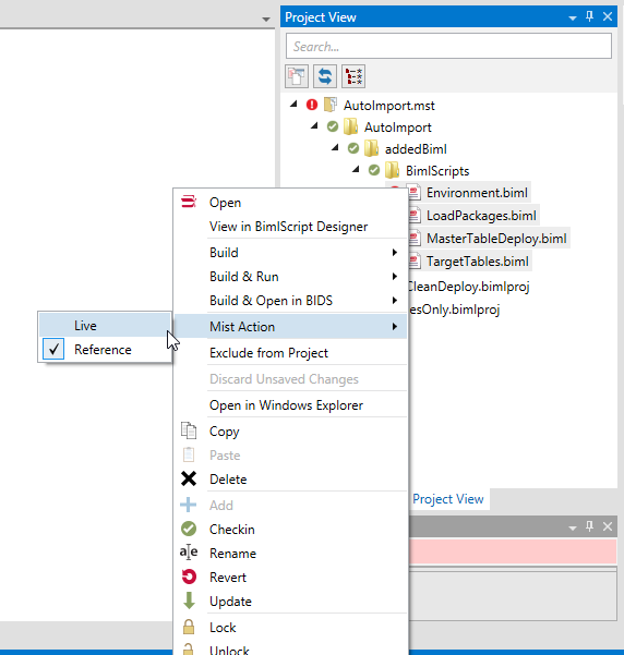 Context Menu - Switch Biml Type