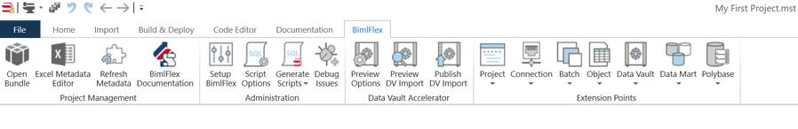 BimlFlex Ribbon UI