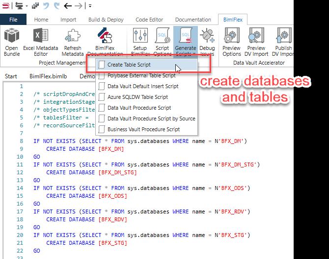 Create Table Scripts
