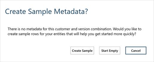 Create Sample Metadata