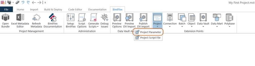 Create Project Parameter