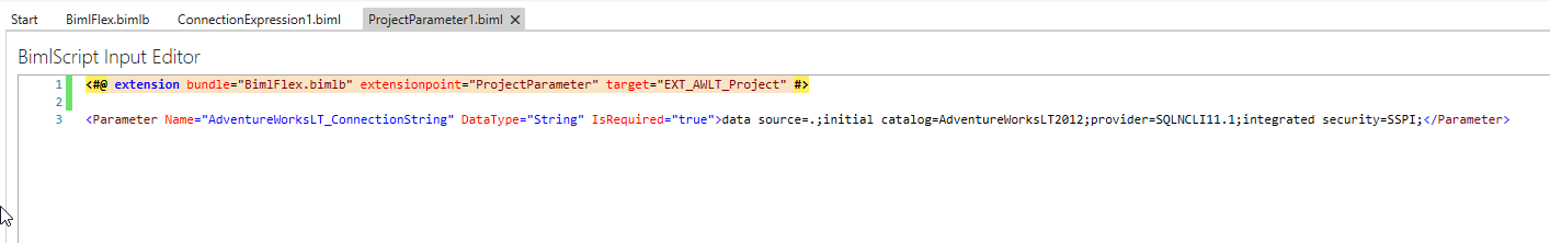 Project Parameter Code