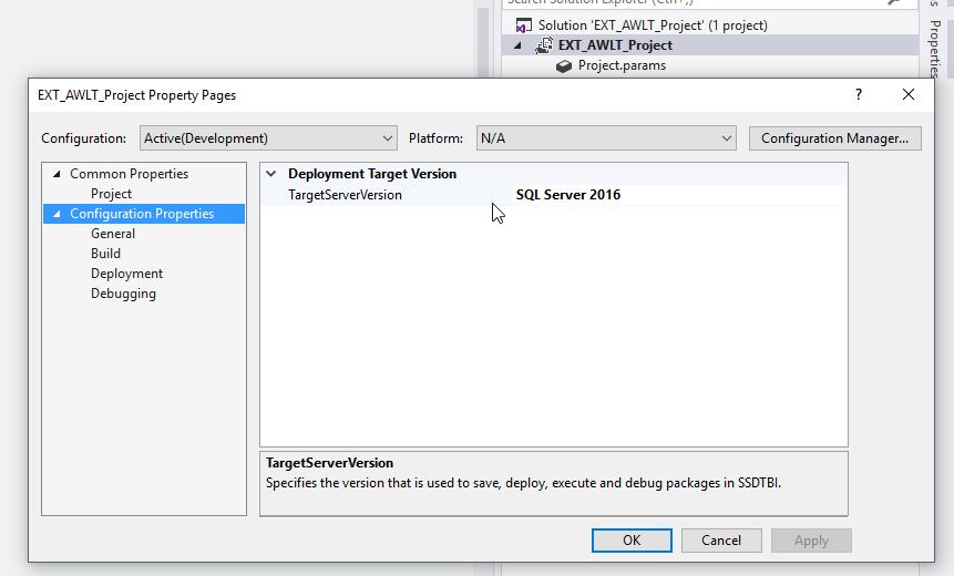 Target Server Version